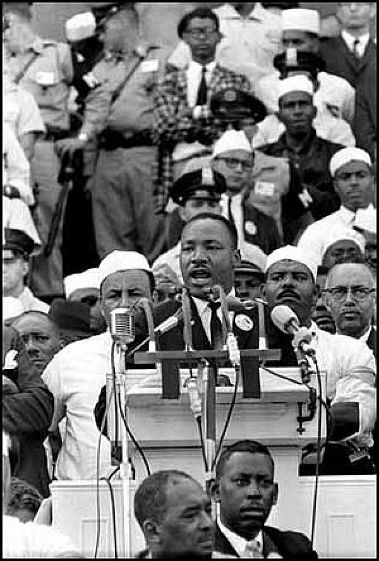 martin luther king jr s speech i Before giving his speech, he learned of martin luther king jr's assassination that same day the following is the full speech kennedy gave to the crowd, as provided by the john f kennedy.